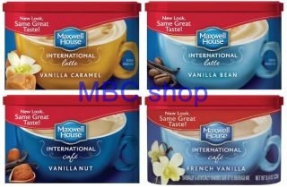 Lot of 16 Cans Maxwell House Instant Coffee International Café Style