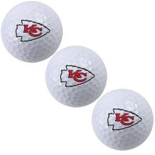 McArthur Kansas City Chiefs 3 Pack of Team Logo Golf Balls