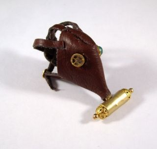 This is a hand made Miniature Medieval Leather Steampunk Gas Mask.It