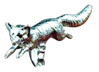 Mayer Mill Brass Chrome Plated Fox Hood Ornament Auto Truck Accessory