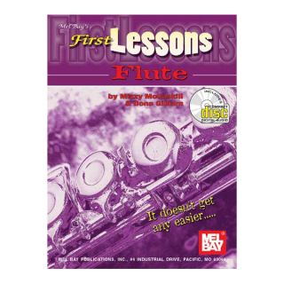 First Lessons Flute Book CD Set by McCaskill Gilliam