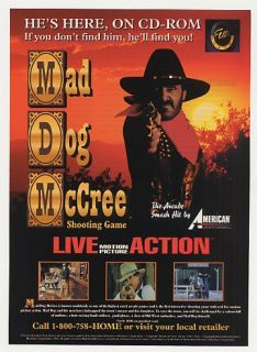 1993 Mad Dog McCree American Laser Games Print Ad