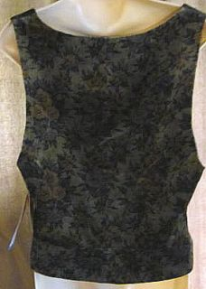 McLaughlin Floral Velvet Vest 14