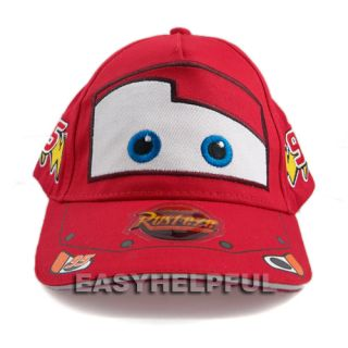 New Disney Pixar Cars Lightning Mcqueen Kid Child Hat Baseball Cap Red