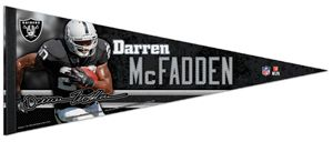Darren McFadden SIGNATURE SERIES Oakland Raiders Action Premium Felt
