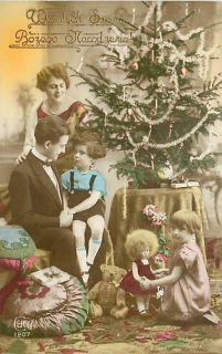 Poland Photo Christmas Doll Bear Tree Family T80493