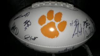 2012 Clemson Tigers Team Signed Football Certificate Proof