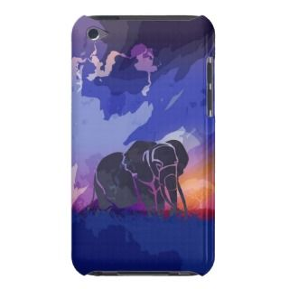 african Safari blue and purple sunset case 4th gen Barely There iPod