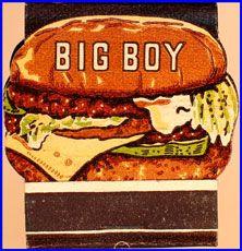 1950s Frischs Big Boy Contour Match Book Phone Book Reference