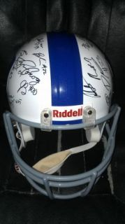 2012 DUKE BLUE DEVILS team signed Football Helmet  CERTIFICATE   PROOF