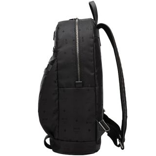 MCM Logo Jacquard Black New LineB Light and City look Casual Backpack