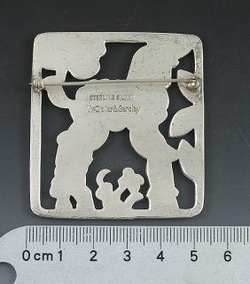 McClelland Barclay Arts Crafts Sterling Lamb Pin