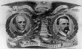 Seymour & Blair 1868 vs Grant Ferrotype Tin Type Photo Adv Pinback
