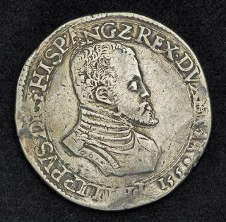 1559 Spanish Netherlands Philip II Silver Philipsdaalder ECU Philippe