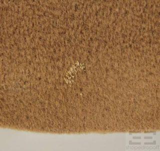 MaxMara Tan Wool Double Breasted Coat Size US 2