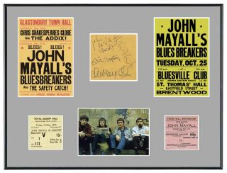 John Mayall Bluesbreakers Eric Clapton Memorabilia Posters Autographs