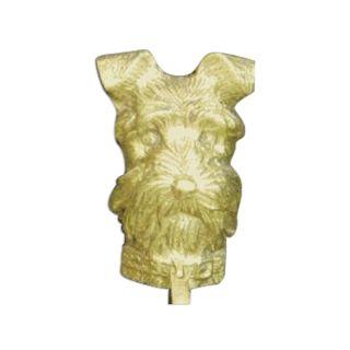 Mayer Mill Brass Decorative Polished Antique Schnauzer Door Knocker