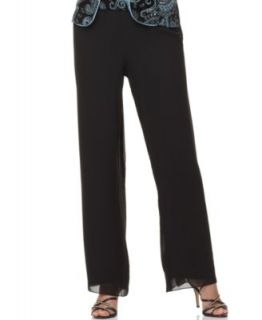 Alex Evenings Petite Pants, Wide Leg Pull On   Womens Petite Dresses