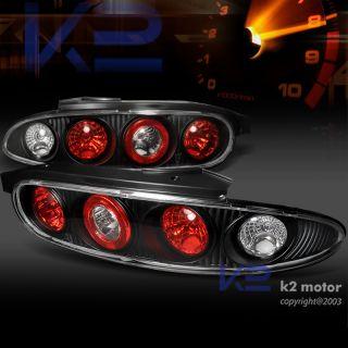 1992 1995 Mazda MX3 Black altezza Tail Lights Rear Stop Lamps