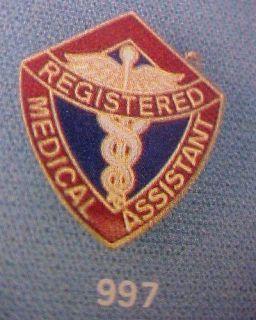 Registered Medical Assistant Insignia Emblem Pin 997