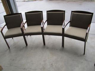 Lot of 5 Dental Medical Office Lobby Waiting Room Chairs