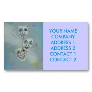 Business   Profile Card   Comedy Tragedy Masks Business Card