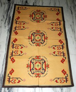 Vintage Yoga Cotton Dhurrie Rug Carpet India 5 x 3