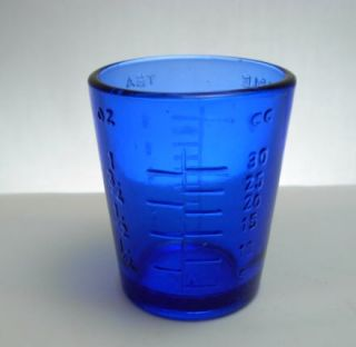 Ounce Cobalt Blue Glass Measuring Cup Shot Glass