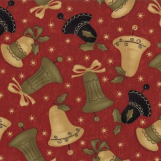 Moda Merry Medley Berry Bells Fabric Quilt BTY Christmas Music