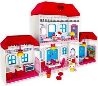 Hello Kitty Mega Bloks Large House Building Toy Play Set Blocks