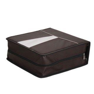 320 Disc CD DVD Wallet Storage Bag Media Case Brown New
