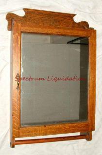 Vintage Antique Wood Mirrored Bathroom Medicine Cabinet