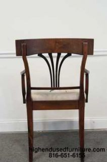 Antique Splat Back Ebonized Biedermeier Chairs w Needlepoint Seats