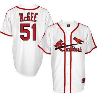 Willie McGee St Louis Cardinals Cooperstown Home Mens Jersey Sz L XL
