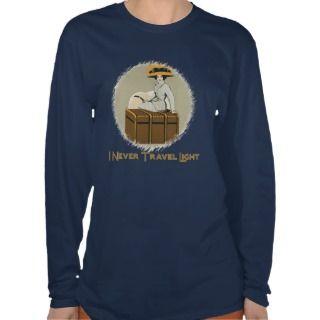 Vintage Lady on Travel Trunk Tshirt