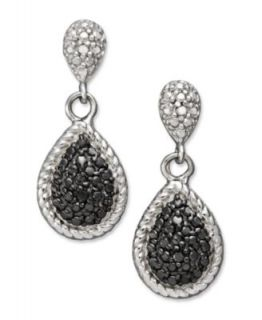 Victoria Townsend Sterling Silver Earrings, Black and White Diamond