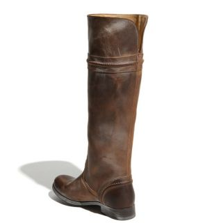 Frye Melissa Trapunto Tall Brown Cognac Leather Riding Boots 6 5 $347