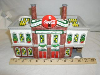 Dept 56 Coca Cola Snow Village Bottling Plant 1994 Original Box 5469 0