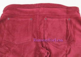 45 Memoi Fashion Legwear M L Corduroy Red Wine Leggings Pants