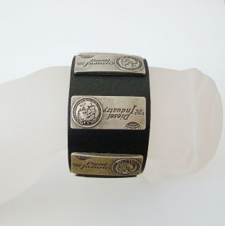 Modern Mens Womens Genuine Leather Copper Bracelet Cuff