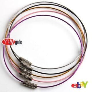 Ship Various Color Loops Memory Beading Wire for Bracelet 22cm TO PICK
