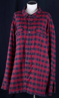 Red Lumberjack Flannel Thermal Lined Insulated Hunters Shirt Mens XXL
