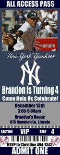 New York Yankees Birthday Party Invitations 20 Tickets