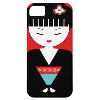 Cute Japanese Geisha Girl iPhone 5 Case iPhone 5 Covers