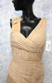 NWT J. Mendel V Neck Ruched Dress   Size 4