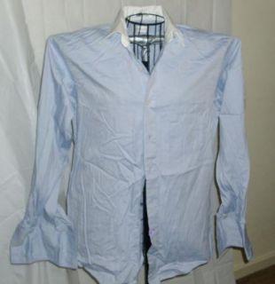 Van Heusen Men Blue French Cuff Dress Shirt 15 1 2 34 35