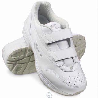 Spira Mens Spring Loaded Walking Shoes Size 10 5 White SWW601 EZ Strap