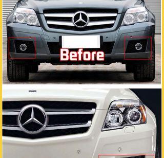 For 2011 2012 Mercedes Benz GLK 300 GLK 350 Chrome Front Fog Lamp