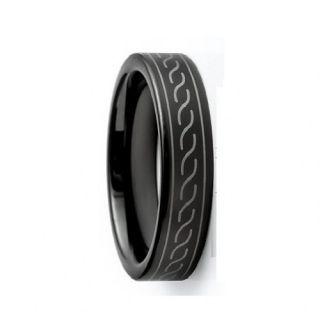 Envyj Men Tungsten Carbide 6mm Man Black Wedding Band Ring NV39A Size