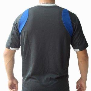 Mizuno Mens Soccer Volleyball Athletic Shirt V Neck Polyester Gray M